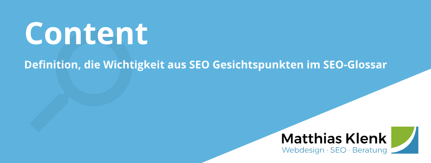 Content und SEO Texte Definition