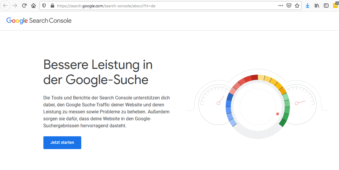 1. Einloggen in der Search Console